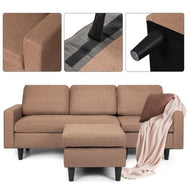 L-Shaped Convertible Sectional with Reversible Chaise-Daily Steals