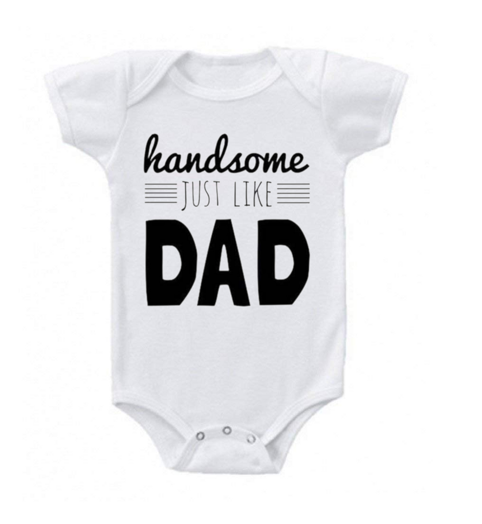 Humurous Comfortable Baby Romper-New Born-Handsome Like Daddy-Daily Steals