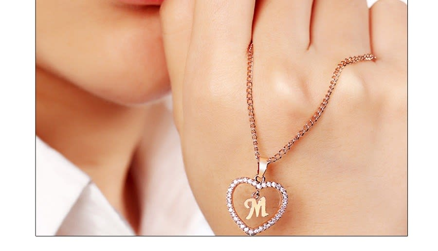 update alt-text with template Daily Steals-CZ Initial Heart Necklace-Jewelry-A-