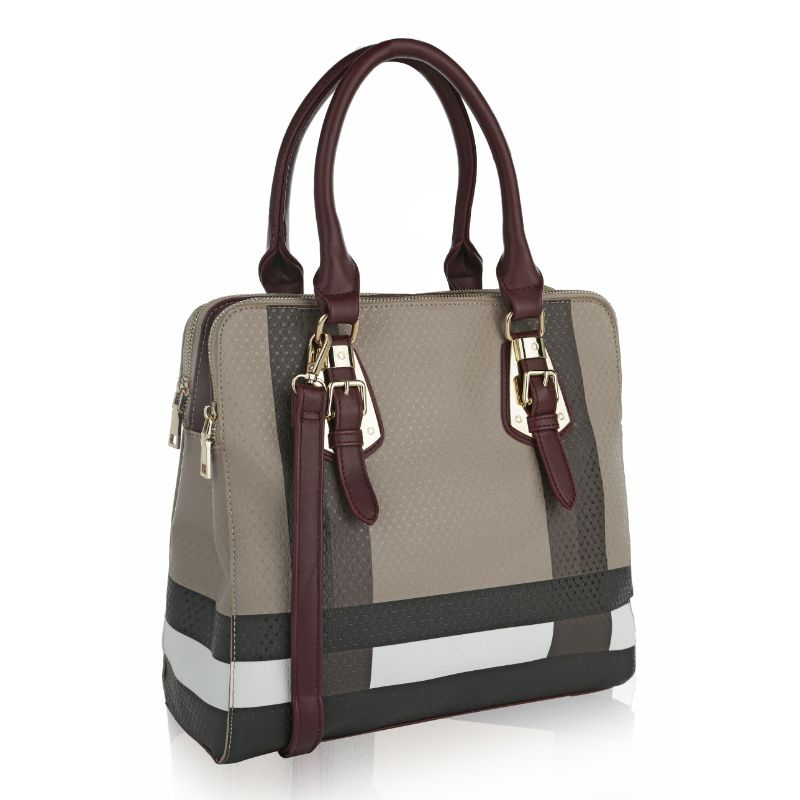 MKF Collection Beverly Tote Bag-Burgundy-Daily Steals