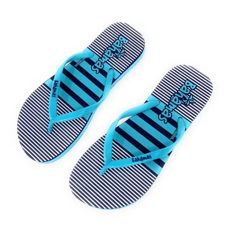Women's Bahamas Summer Fun Stripes - Flip Flop Sandals-5-Daily Steals