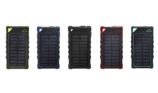 Ultra-Compact High-Speed 8,000mAh Portable Solar Smartphone Charger with LED Flashlight