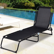 Camping Foldable Patio Chaise Lounge Chair-Daily Steals