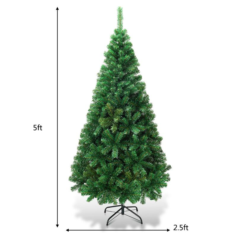 Artificial Christmas Tree Pine Tree with Solid Metal Legs-5'-Daily Steals
