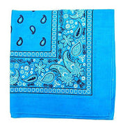 "[6 or 12 Pack] Mechaly Paisley 100% Cotton Unisex Bandanas - 22"" x 22""-Turquoise-6 pack-Daily Steals"