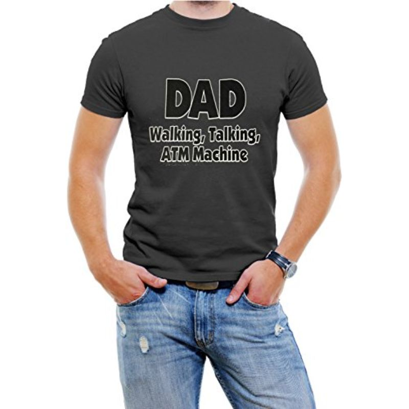 """DAD Walking, Talking, ATM Machine"" Funny T-Shirt-Black-4XL-Daily Steals"