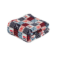 Noble House Printed Super Soft Microplush Throw Blanket-Firehouse Patchwork-Daily Steals