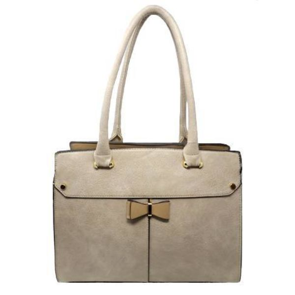 Women Leather Shoulder Vintage Tote Handbag-Apricot-Daily Steals