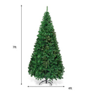 Artificial Christmas Tree Pine Tree with Solid Metal Legs-7'-Daily Steals
