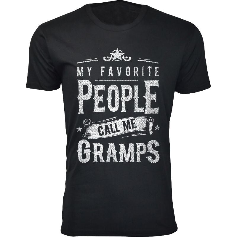 Men's Dad Grandpa My Favorite People Call Me T-Shirts-Gramps - Black-2XL-Daily Steals