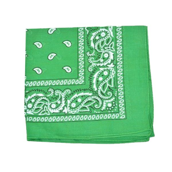 100% Cotton 18 Pack Bandana - 22 x 22-Paisley Green-Daily Steals