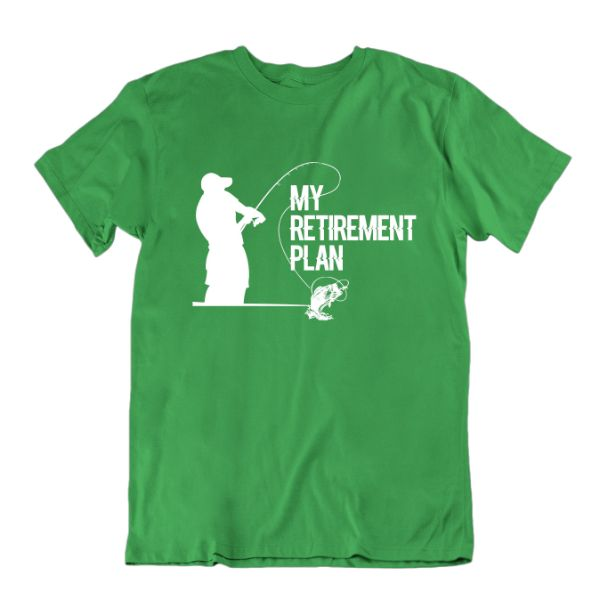 "Fisherman's ""My Retirement Plan"" T-shirt-Kelly Green-Small-Daily Steals"