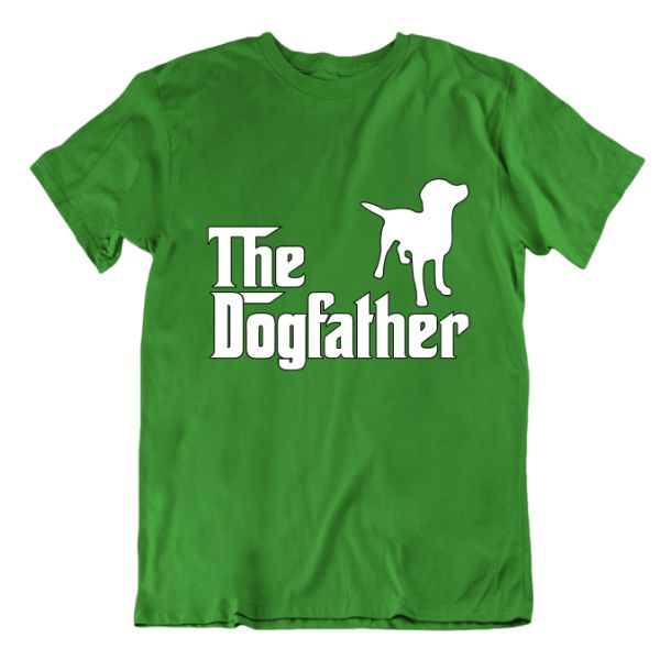 """The Dogfather"" T-Shirt-Kelly Green-Small-Daily Steals"