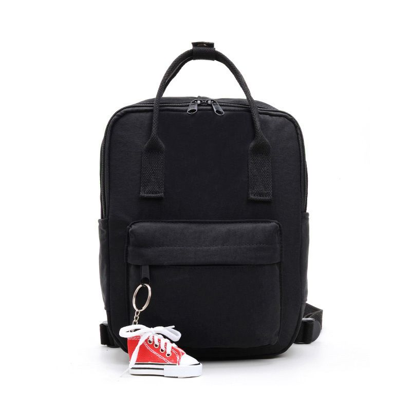 Mini Unisex Daily Backpack with FREE Shoe Keychain-Black-Daily Steals