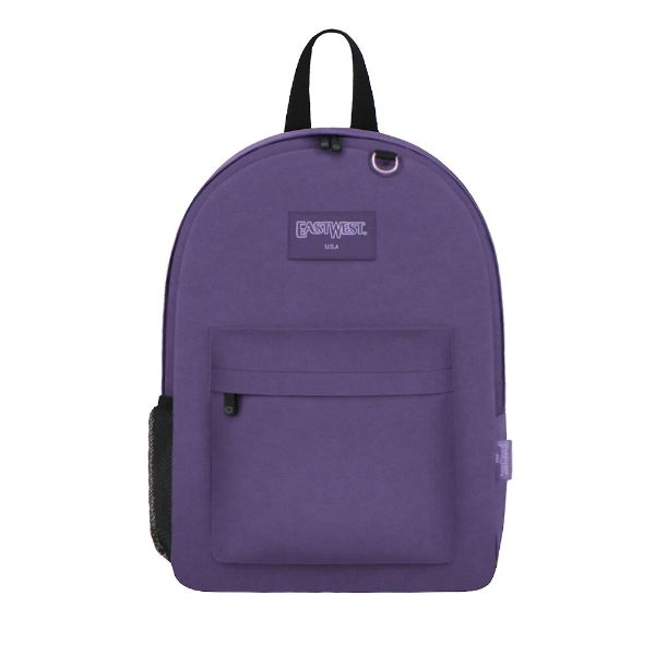 East West Classic Backpack with Key Holder and Bottle Holder-Purple-Daily Steals