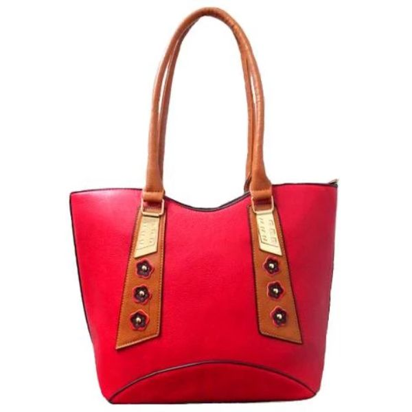 Stylish Tote Vintage Leather Handbag-Red-Daily Steals