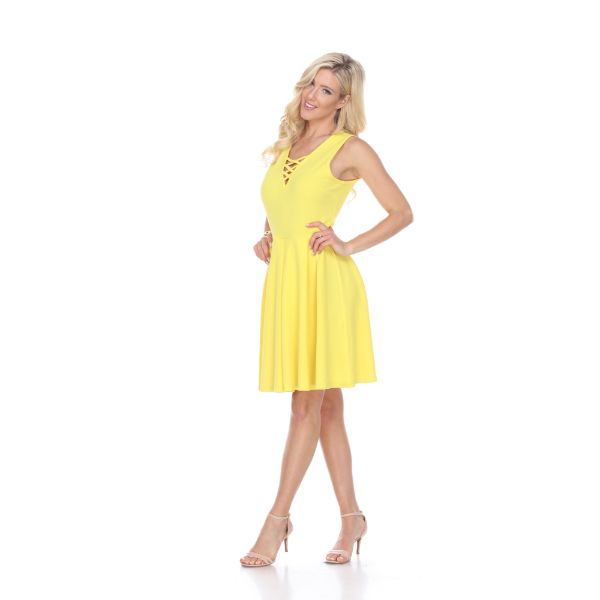 Shay' Fit & Flare Dress-Yellow-S-Daily Steals