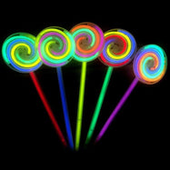 8 in Lollipop Glow in The Dark Neon Glow Sticks Party Supplies - 50 Pieces-