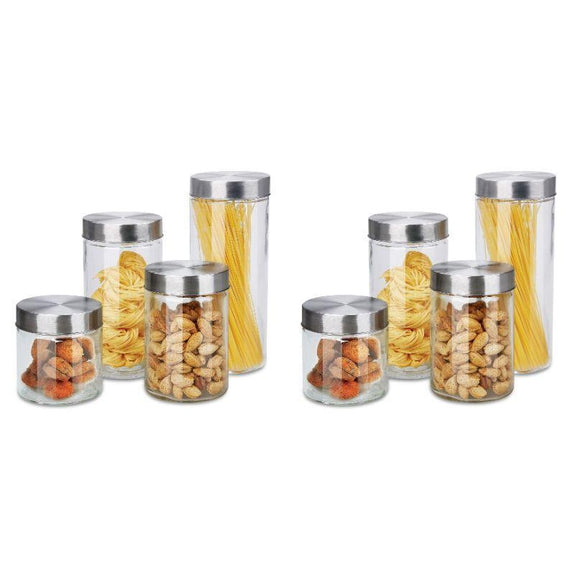 8 or 16 Piece Airtight Glass Canister Set-16 Piece Set-