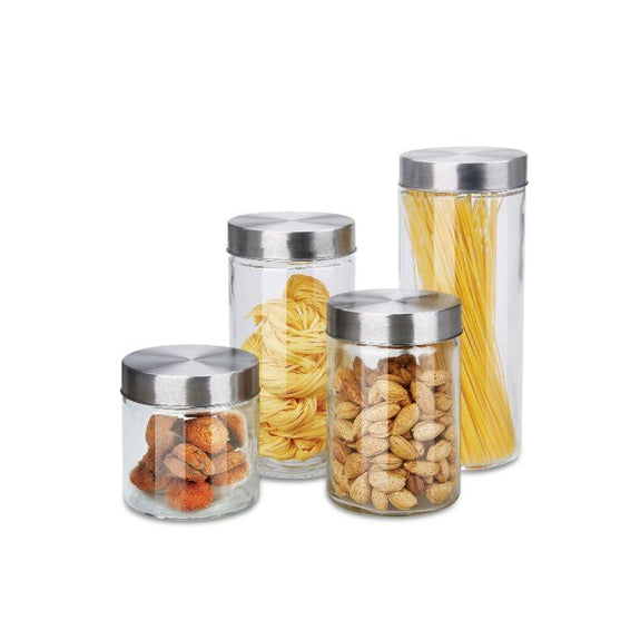 8 or 16 Piece Airtight Glass Canister Set-8 Piece Set-