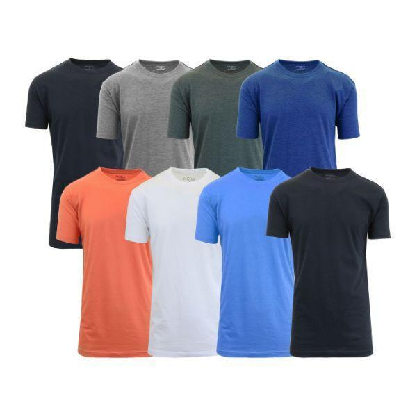 Daily Steals-[8-Pack] Men's Crew-Neck Fitted T-Shirt-Men's Apparel-Set A-M-