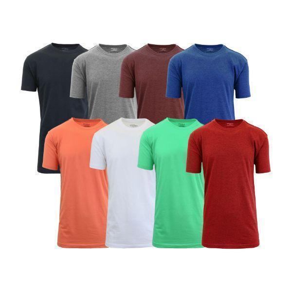 Daily Steals-[8-Pack] Men's Crew-Neck Fitted T-Shirt-Men's Apparel-Set B-M-
