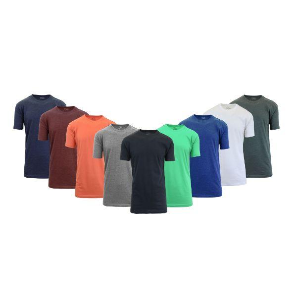 Daily Steals-[8-Pack] Men's Crew-Neck Fitted T-Shirt-Men's Apparel-Set C-M-