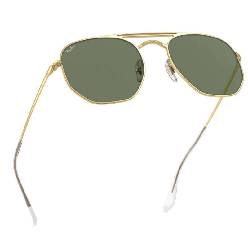 Ray-Ban RB3609 Gold and Green Classic Unisex Aviator Sunglasses-Daily Steals