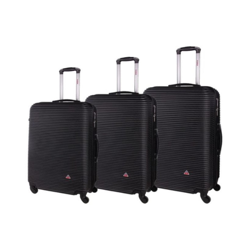 "InUSA Royal Hard-Sided Spinner Luggage Cases and Sets-Black-20''/24''/28""-Daily Steals"