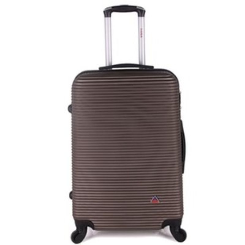InUSA Royal Hard-Sided Spinner Luggage Cases and Sets-Brown-24''-Daily Steals