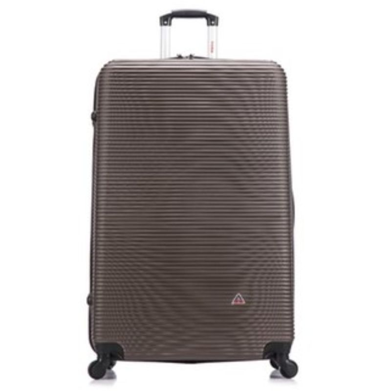 InUSA Royal Hard-Sided Spinner Luggage Cases and Sets-Brown-28''-Daily Steals