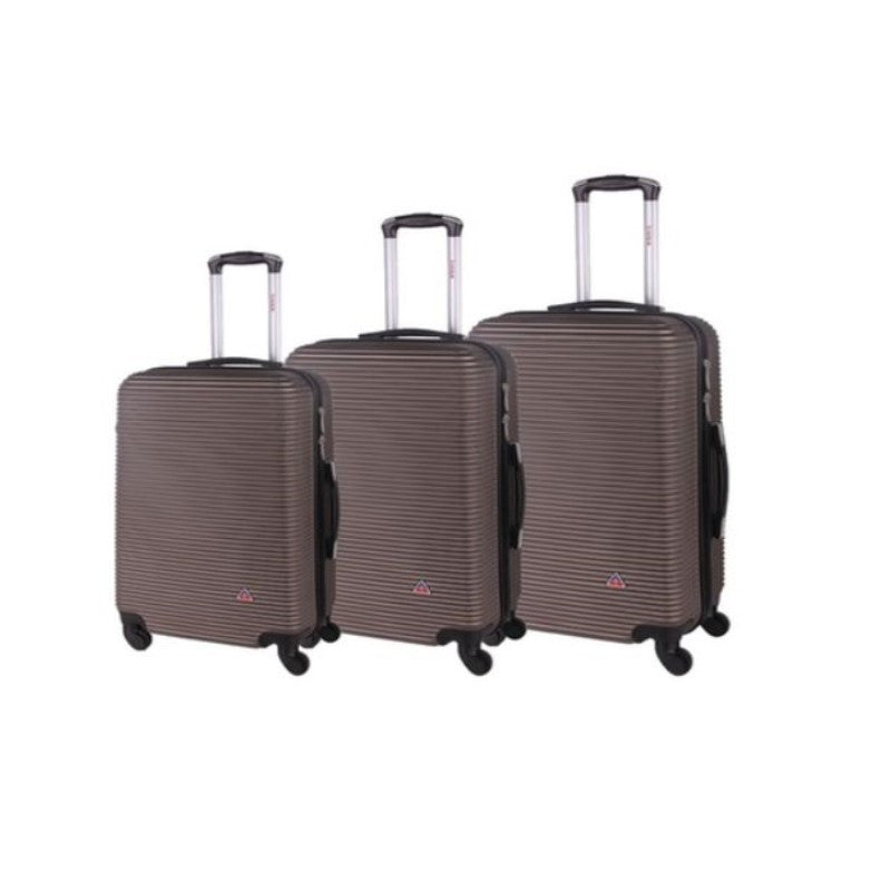 "InUSA Royal Hard-Sided Spinner Luggage Cases and Sets-Brown-20''/24''/28""-Daily Steals"