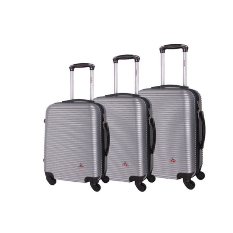 "InUSA Royal Hard-Sided Spinner Luggage Cases and Sets-Silver-20''/24''/28""-Daily Steals"