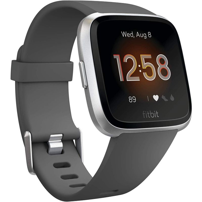 Fitbit Versa Lite Fitness Tracker-Charcoal/Silver Aluminum-Daily Steals