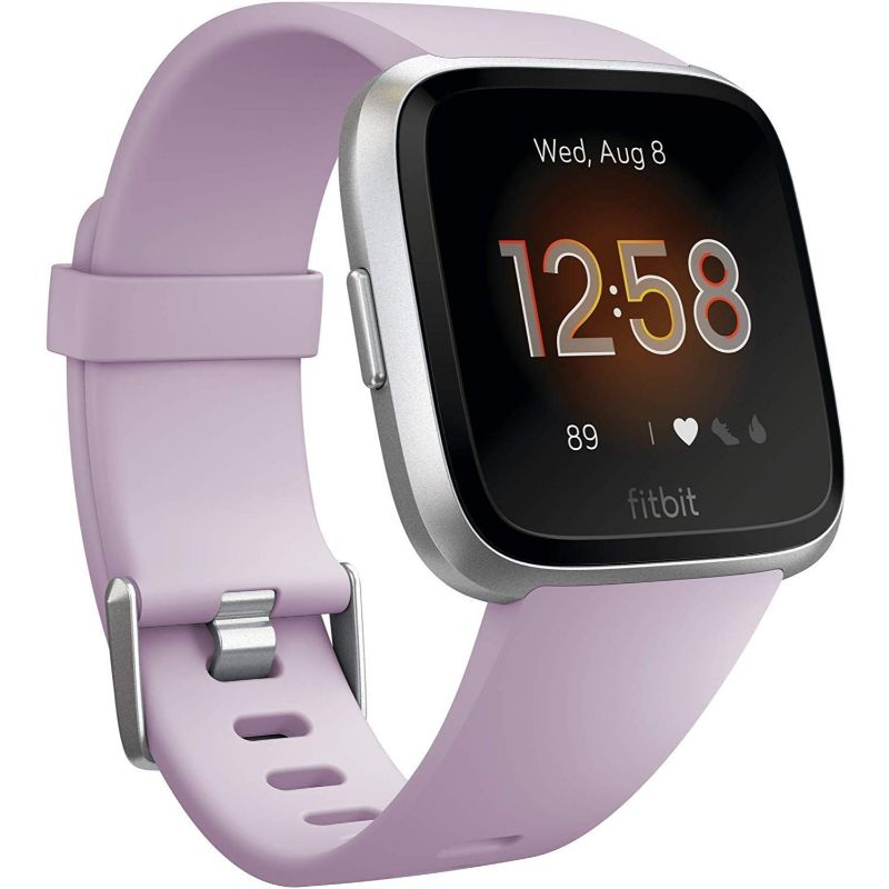 Fitbit Versa Lite Fitness Tracker-Lilac/Silver Aluminum-Daily Steals