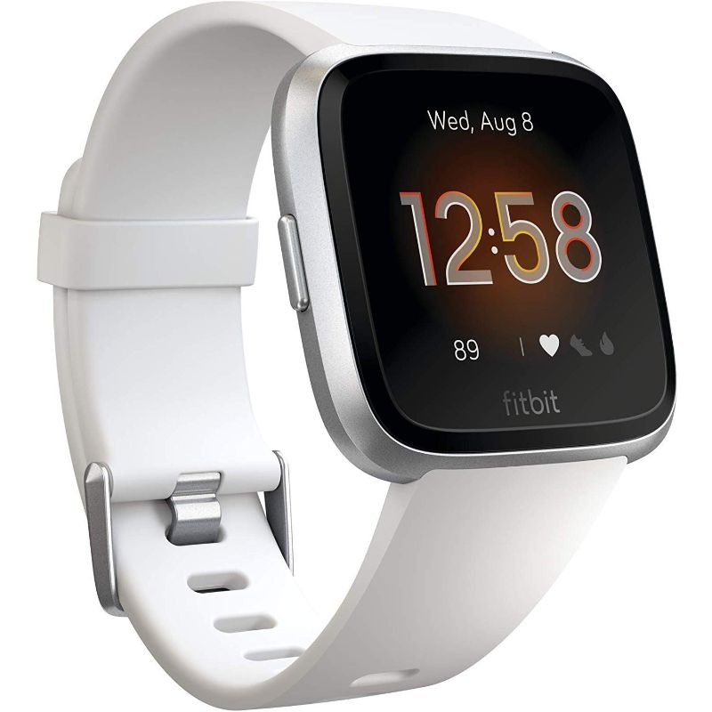 Fitbit Versa Lite Fitness Tracker-White/Silver Aluminum-Daily Steals