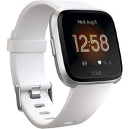 Fitbit Versa Lite Fitness Tracker-White / Silver Aluminium-Daily Steals