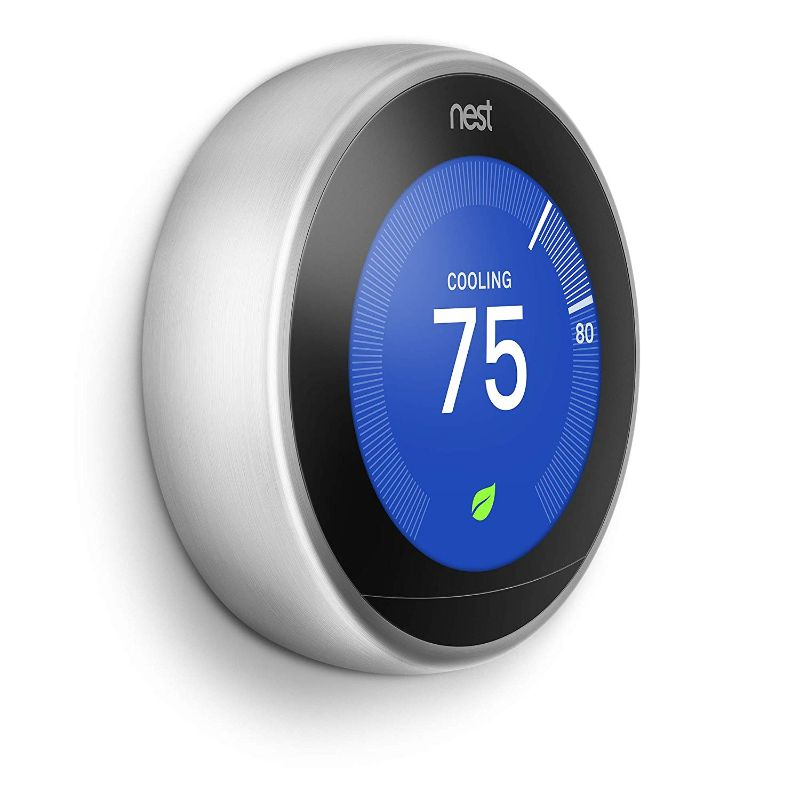 Google Nest Learning Thermostat - 3rd Generation-Stainless Steel-Daily Steals