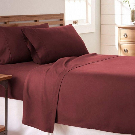 Premium Collection Ultra-Soft Sheet Set (3- or 4-Piece)-Burgundy-Twin-Daily Steals