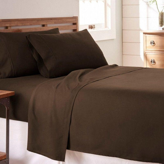 Premium Collection Ultra-Soft Sheet Set (3- or 4-Piece)-Chocolate-Twin-Daily Steals