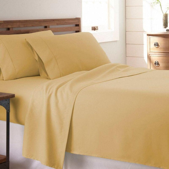 Premium Collection Ultra-Soft Sheet Set (3- or 4-Piece)-Gold-Twin-Daily Steals