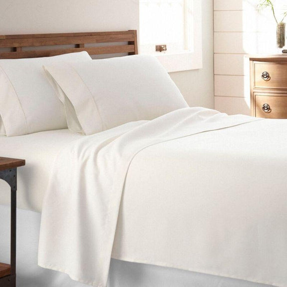 Premium Collection Ultra-Soft Sheet Set (3- or 4-Piece)-Ivory-Twin-Daily Steals