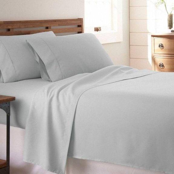 Premium Collection Ultra-Soft Sheet Set (3- or 4-Piece)-Light Gray-Twin-Daily Steals