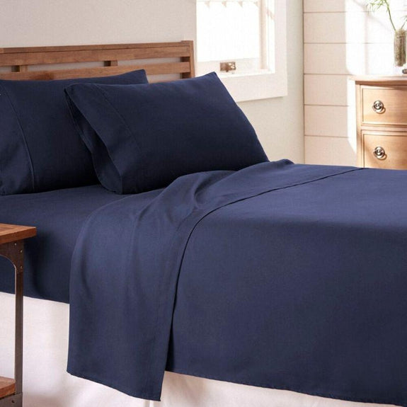 Premium Collection Ultra-Soft Sheet Set (3- or 4-Piece)-Navy-Twin-Daily Steals