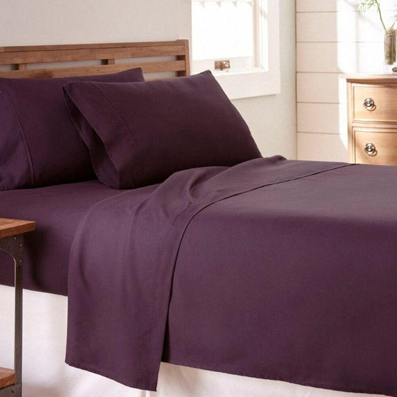 Premium Collection Ultra-Soft Sheet Set (3- or 4-Piece)-Purple-Twin-Daily Steals