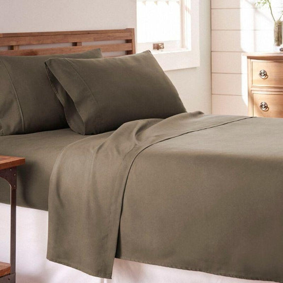 Premium Collection Ultra-Soft Sheet Set (3- or 4-Piece)-Taupe-Twin-Daily Steals