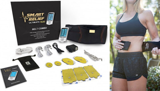 Smart Relief TENS Unit Electro-Therapy Massager Belt Combo-Daily Steals