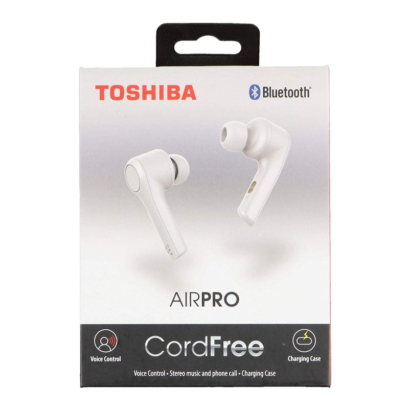 Toshiba Air Pro Truly Wireless Earbuds-White-Daily Steals