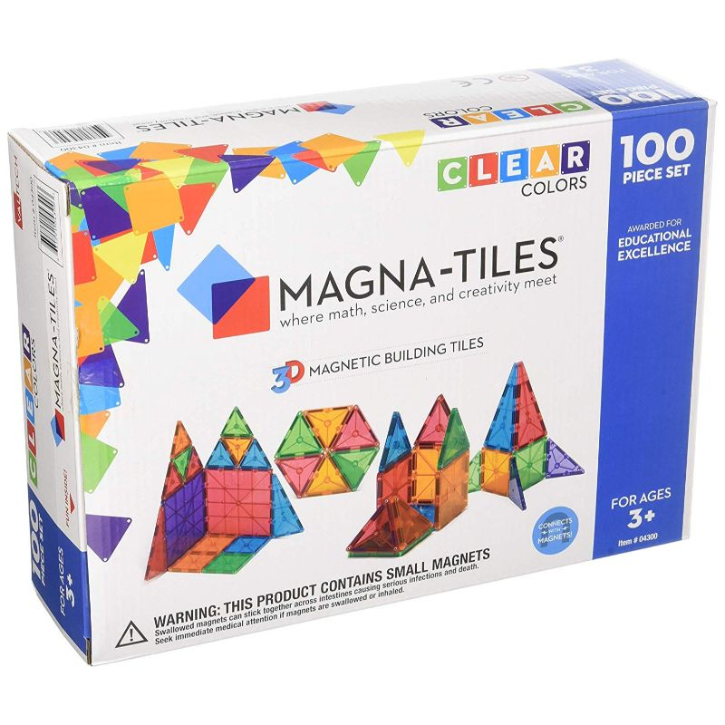 Magna-Tiles Clear Colors 100 Piece Set-Daily Steals