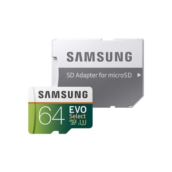 update alt-text with template Daily Steals-Samsung 64GB 100MB/s (U3) MicroSD EVO Select Memory Card with Adapter - 3 Pack-Digital Storage-